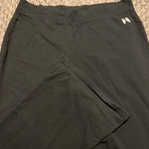 VS yoga pants with flared bottoms.
